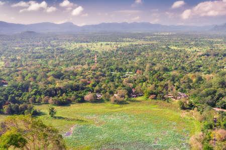 Sigiriya in Sri Lanka. Looking at the neighboring mountains.
