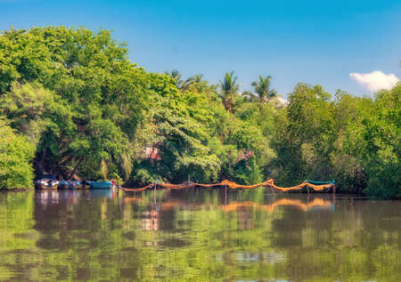 A Dutch canal in Negombo, Sri Lanka. Stock Photo