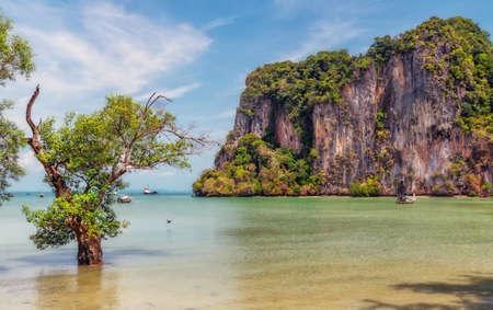 Railay Beach  at Krabi, Thailand. Stock Photo