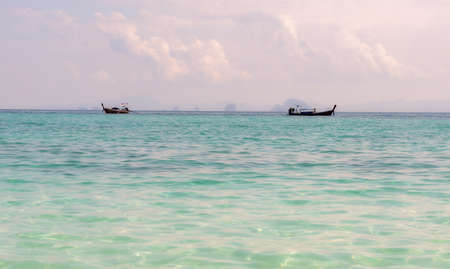 The horizon seen from the beach of one of the Thai islands. Stock Photo