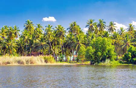 A Dutch canal in Negombo, Sri Lanka Stock Photo