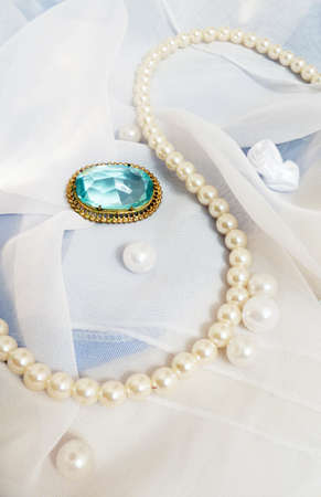 brooch: vintage brooch with the composition Stock Photo