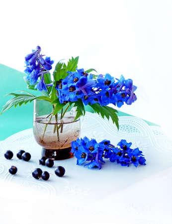 composition with sinimi tsvetami in stack Stock Photo - 10332612