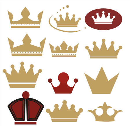 history icon: crown of different forms