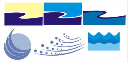 emblem of water Vector