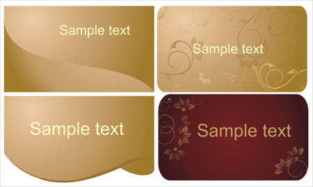 gold cards Stock Vector - 10689384