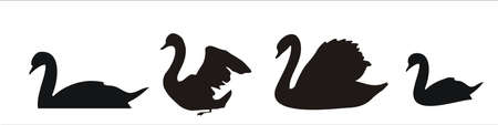 shapes of swans Vector