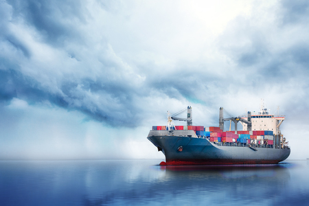 International Container Cargo ship in the ocean, Freight Transportation, Nautical Vessel Stock Photo - 72524777
