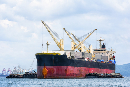 General Cargo ship in the ocean Stock Photo