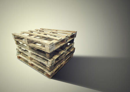 wood pallets Isolated on brown background