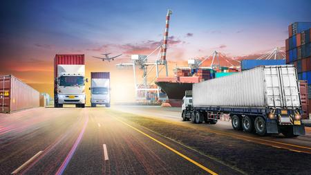 컨테이너화물 화물선 및 항만 화물선 물류 수입 수출 배경 및 운송 산업