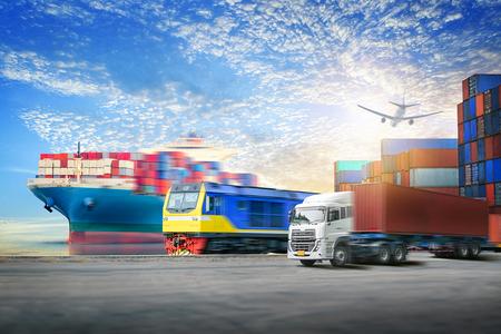 物流輸入輸出背景とコンテナー貨物輸送コンセプト