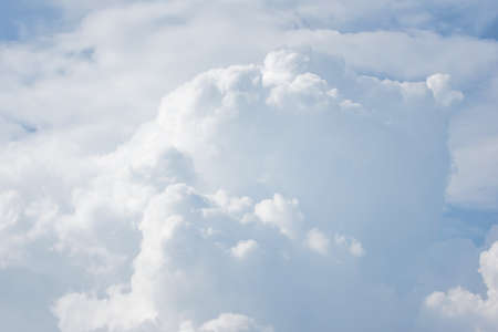 big clouds in the blue sky, fluffy clouds big on sky background