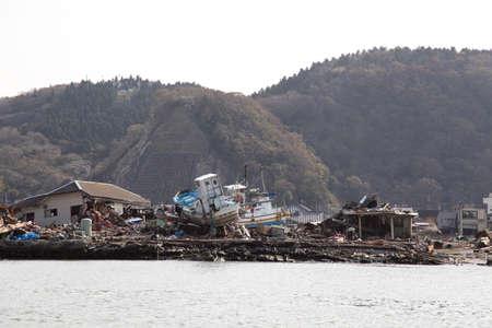 地震、津波、日本、311 写真素材