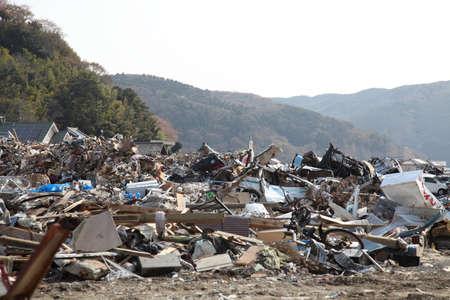 earthquake, tsunami, japan, 311 Stock Photo