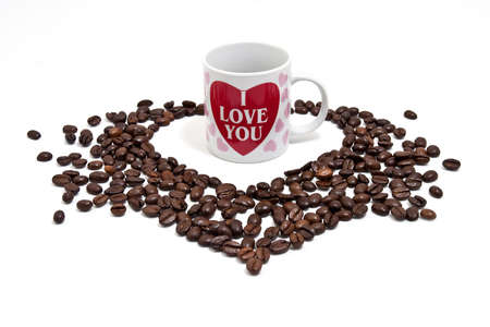 Coffee heart Stock Photo - 12041476