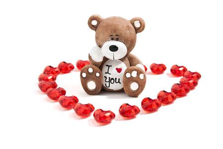 A teddy bear in a heart