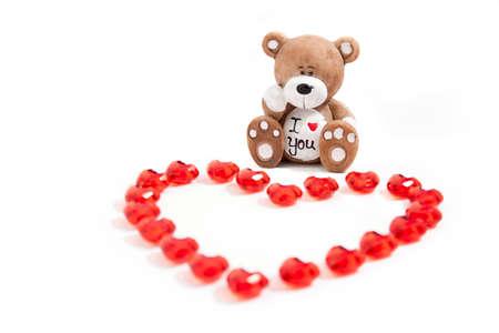 A teddy bear with a heart Stock Photo