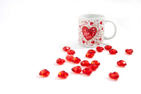 A cup of coffee with many hearts Stock Photo - 12235939