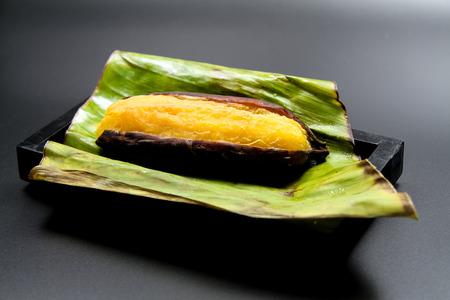 Grilled Banana on leaf [Thai Style]