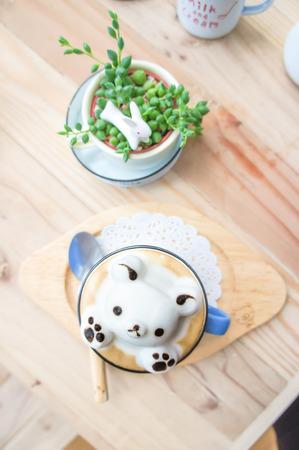 Teddy Bear 3D art latte