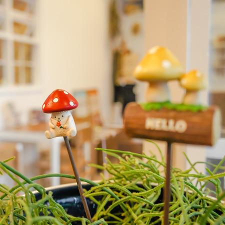 Mini mushroom decoration