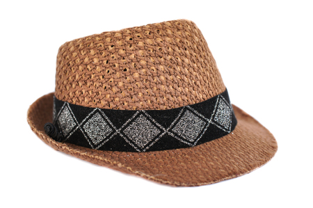 Closed up of Cowboy Hat, isolated on white background Stock fotó