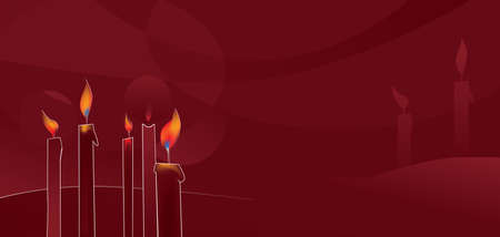 Christmas background with candle Vector