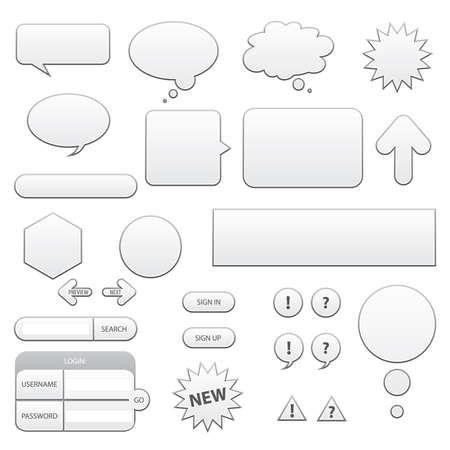 web elements Illustration
