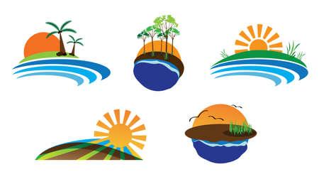 nature logo set Illustration