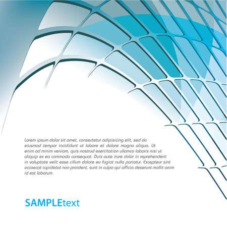 Blue business background design series Illustration