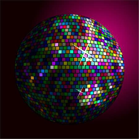 Vector multy-colored disco ball
