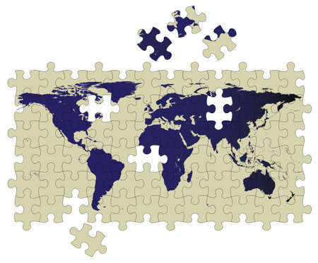 earth puzzle Illustration