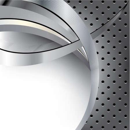 Futuristic metal background template Illustration