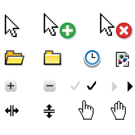Different vector icons Illustration
