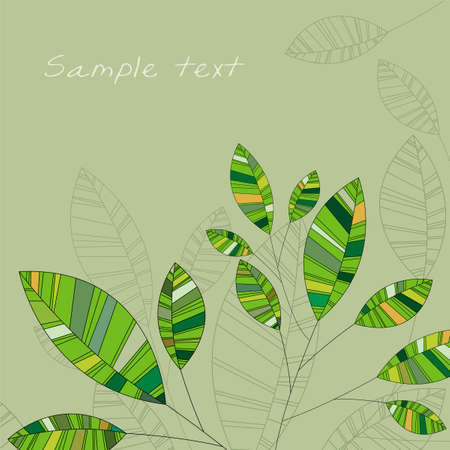 leafage: abstract vector green leafage Illustration