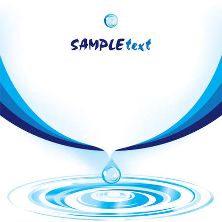 Vector water drop design template series Vector