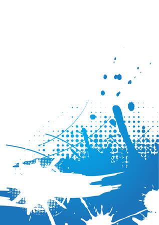 Blue abstract background design Illustration