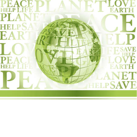 Business green background with globe Stock Vector - 5453211