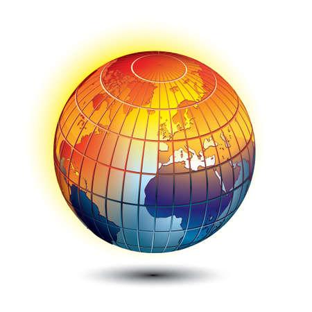 calentamiento global: Calentamiento global  Vectores