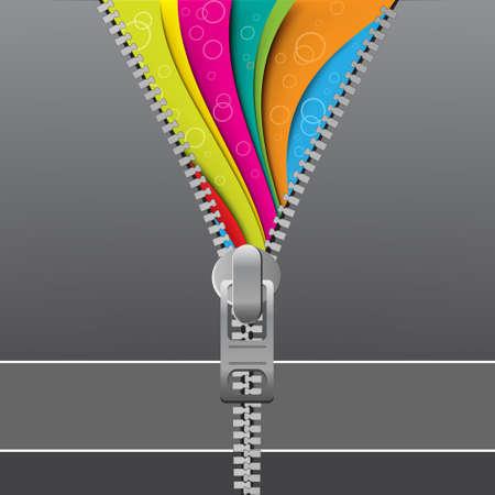 Zipper style design template Stock Vector - 5453213