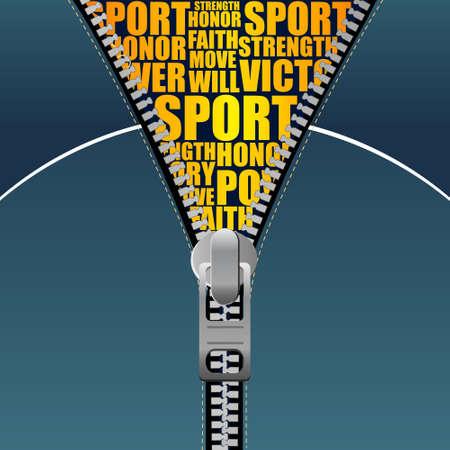 Zipper style background _ sport