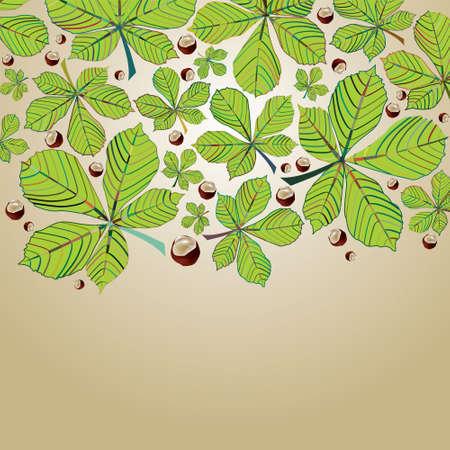 Chestnut autumn background series