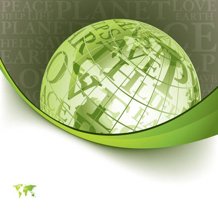 Eco background with globe series Vector