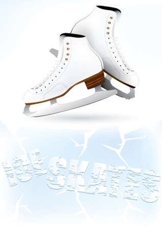 Vector ice skates background design Illustration