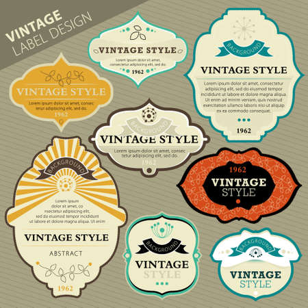 tradition art: Vintage labels
