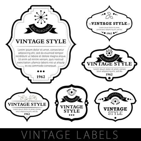 Vintage labels Stock Vector - 9837482