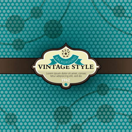 Vintage background template Stock Vector - 9837484
