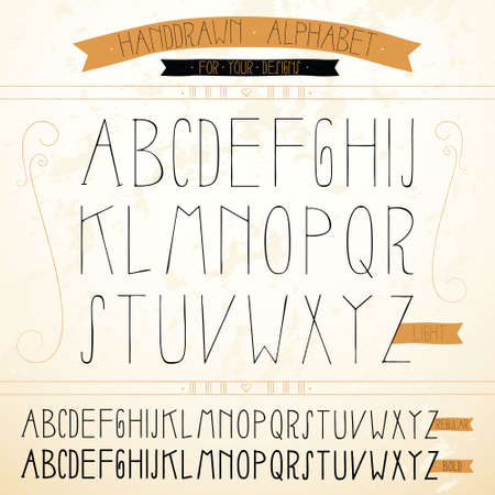 hand-drawn Alphabets