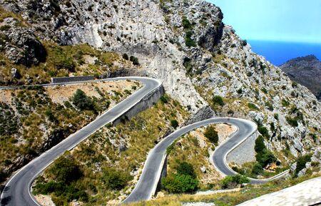Winding Road in Mallorca